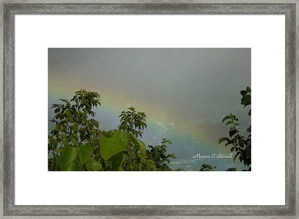 Niagara Falls Collection - Rainbow - Canadian View Framed Print