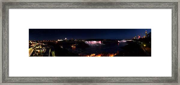 Niagara Falls Panoramic Framed Print