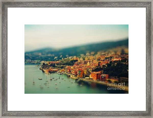 Nice Coast, France Framed Print