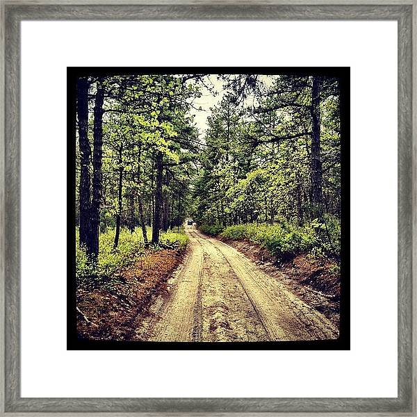 Nice Day For A #trailride Framed Print