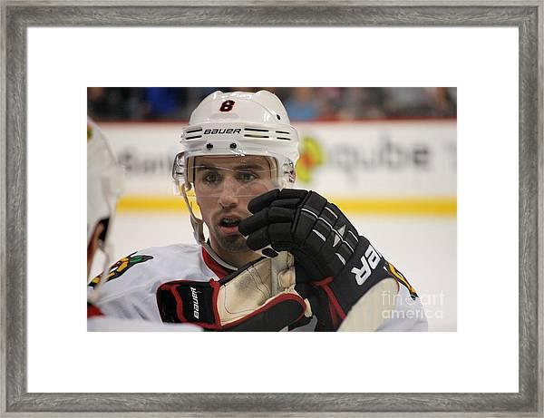 Nick Leddy - Chicago Blackhawks Framed Print
