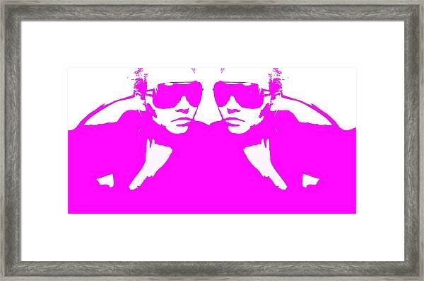 Niki Mirror Pink Framed Print by Naxart Studio