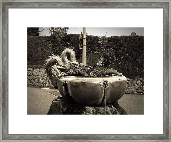 Nikko Fountain Framed Print