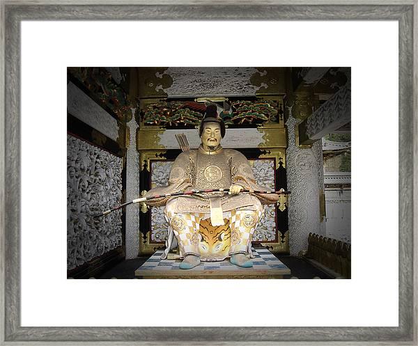 Nikko Golden Sculpture Front Framed Print