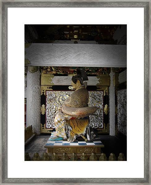 Nikko Golden Sculpture Framed Print