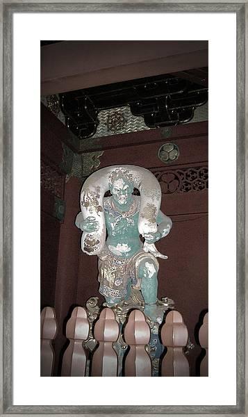 Nikko Green Figure Framed Print