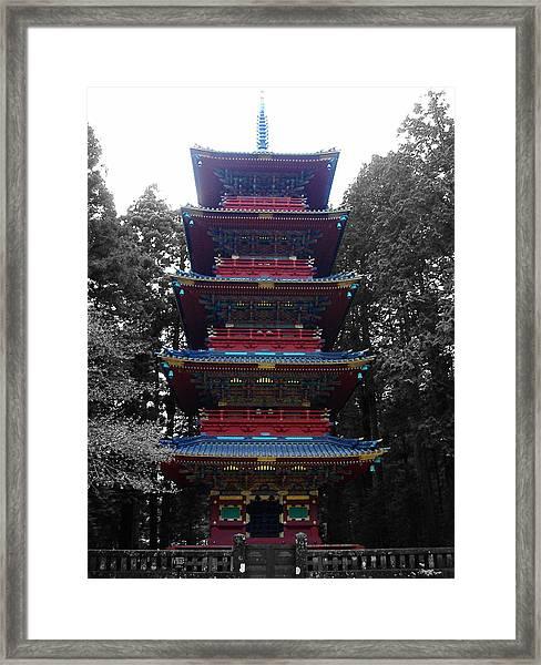 Nikko Pagoda Framed Print