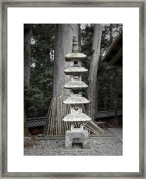 Nikko Temple Sculptures Framed Print