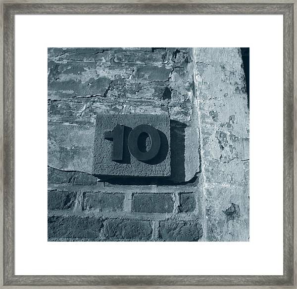No. 10 Barracks At Terezin - Duotone Framed Print