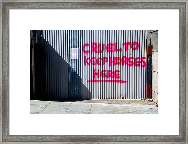 No Nags Framed Print by Jez C Self