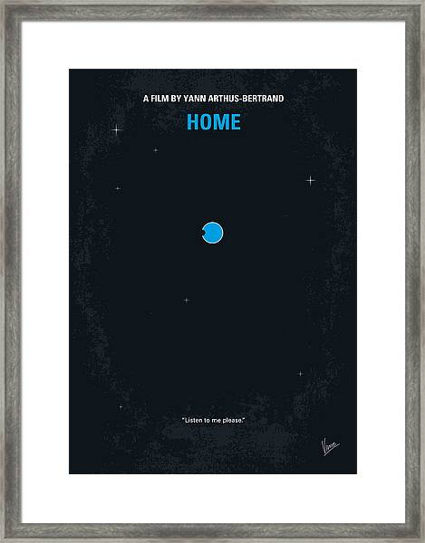 No037 My Home Minimal Movie Poster Framed Print