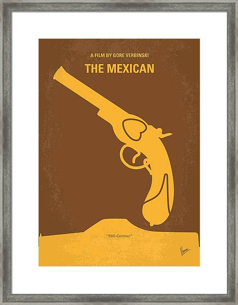 No077 My The Mexican Minimal Movie Poster Framed Print