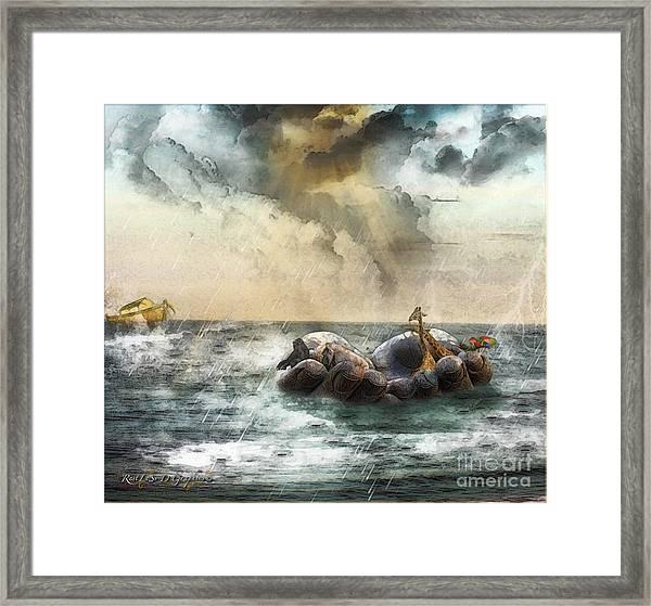 Noah's Ark Stragglers Framed Print