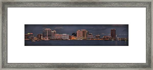 Framed Print featuring the photograph Norfolk Waterfront Color by Williams-Cairns Photography LLC