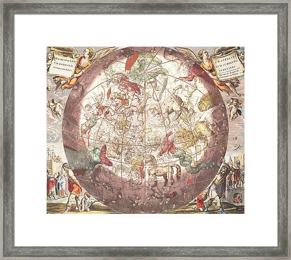 Northern Boreal Hemisphere From The Celestial Atlas Framed Print