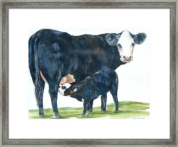 Nothing But Mother's Milk For My Baby Framed Print