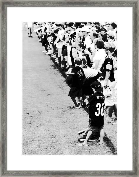 Number 1 Bettis Fan - Black And White Framed Print