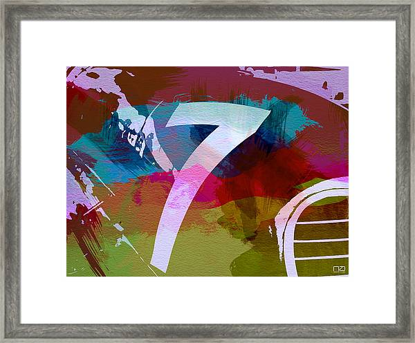 Number 7 Framed Print