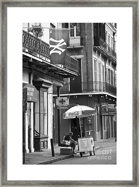Ny Yankees On Royal Street Framed Print
