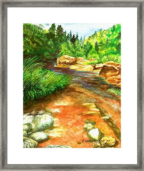 Oak Creek Red Framed Print