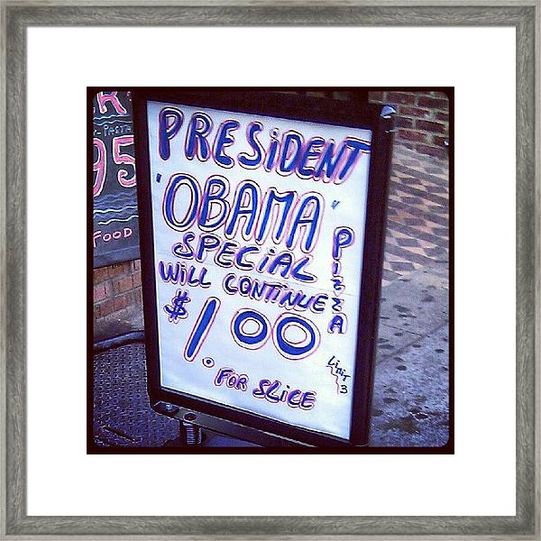 #obama Special Continues You Guys Framed Print