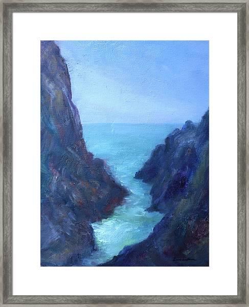 Ocean Chasm Framed Print