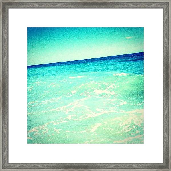 #ocean #plain #myrtlebeach #edit #blue Framed Print