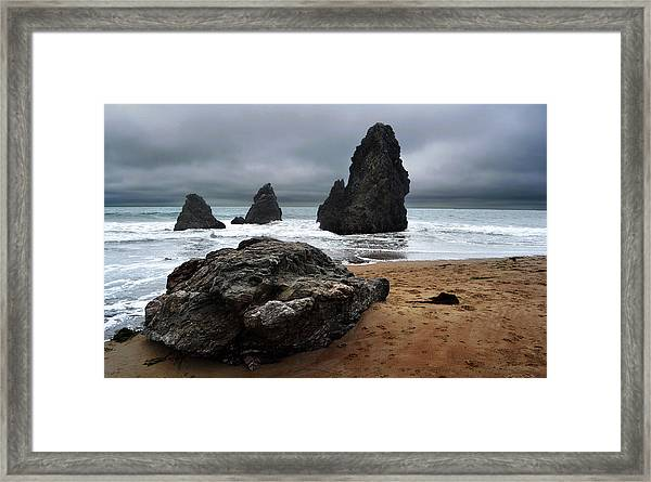 Ocean Towers Framed Print
