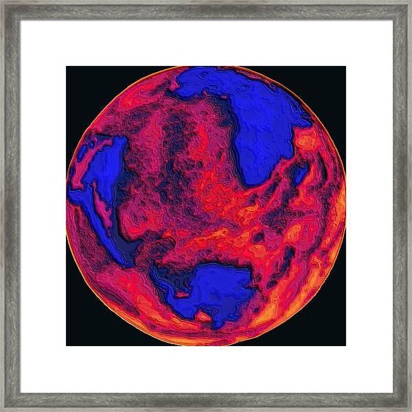 Oceans Of Fire Framed Print