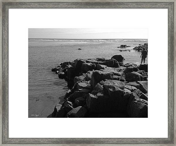 Oceanside Beach Framed Print