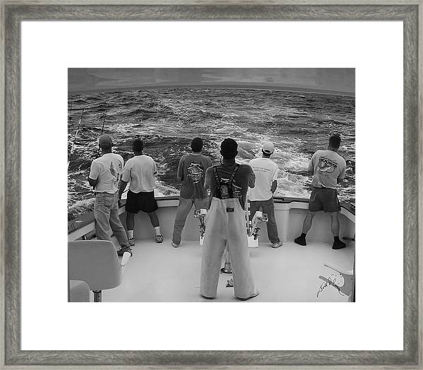 Framed Print featuring the photograph Off Shore by Williams-Cairns Photography LLC