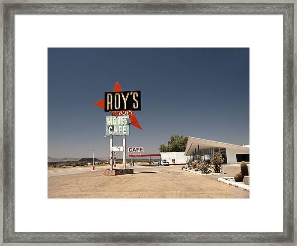 Route  66  Roys Framed Print
