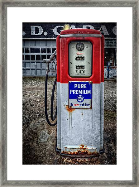 Old And Rustu Pump 2  Framed Print