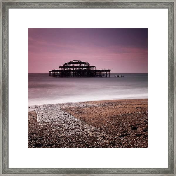 Old Brighton Pier Framed Print by Nina Papiorek