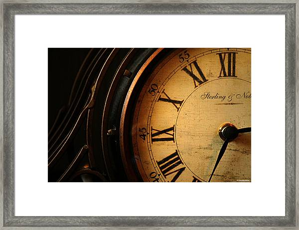 Old Fashioned Mantle Clock Framed Print