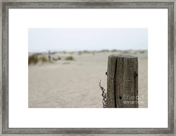 Old Fence Pole Framed Print