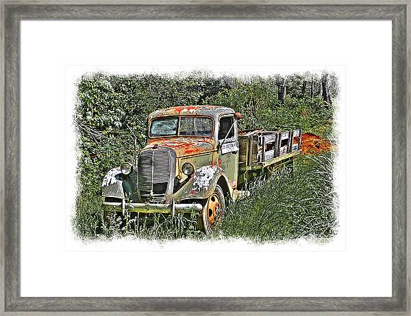Framed Print featuring the photograph Old Ford Flatbed by William Havle