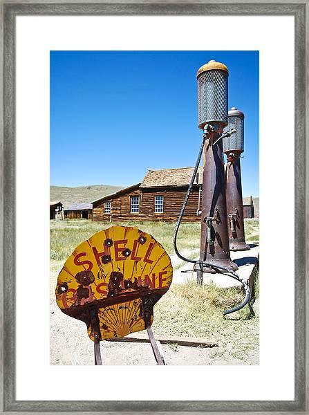 Old Gas Pumps Framed Print