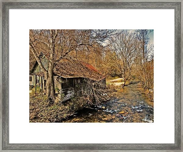 Old Home On A River Framed Print