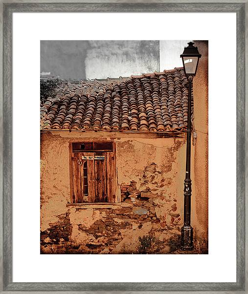 Thessaloniki, Greece - Old House Framed Print