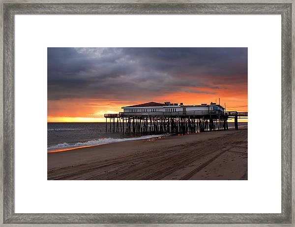 Old Jennettes Pier Framed Print