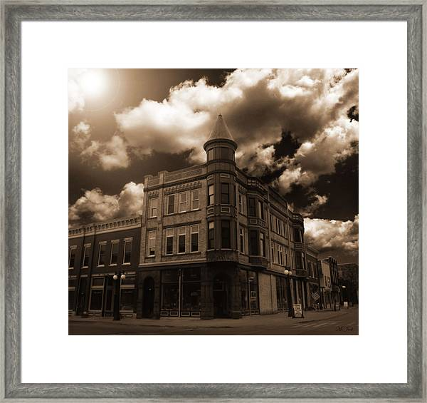 Old Menominee Corner Store Building Framed Print