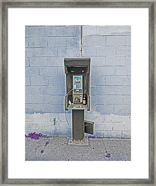 Old Pay Phone In New Orleans Framed Print
