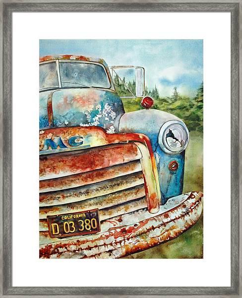 Old Rusty Framed Print