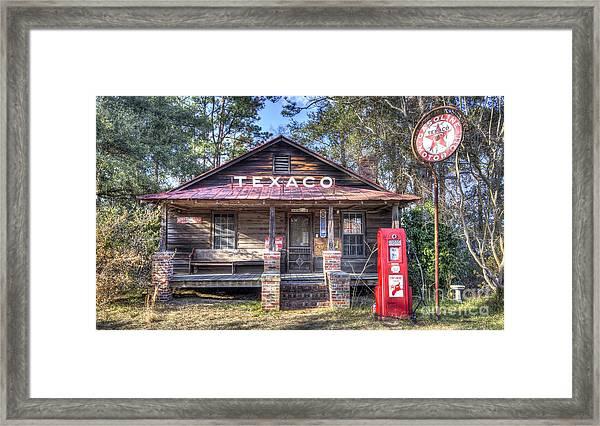 Old Texaco Service Station Framed Print