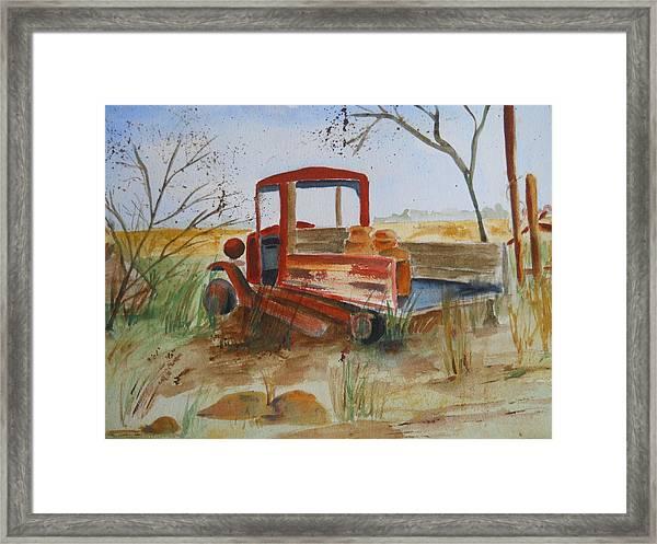 Old Trucks Never Die Framed Print