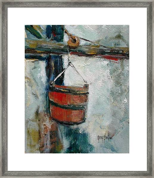 Old Well Bucket Framed Print