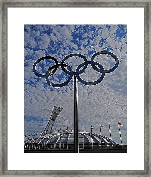 Olympic Stadium Montreal Framed Print