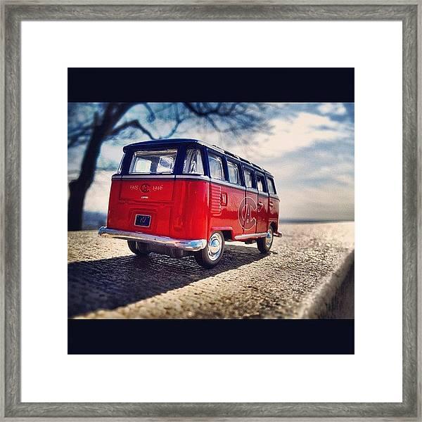 On The Road... #vw #vwbus #bus #habs Framed Print