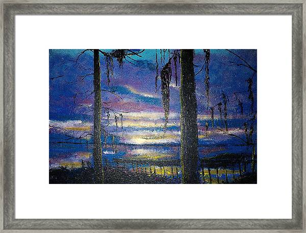 On The Shore Of Waccamaw Framed Print